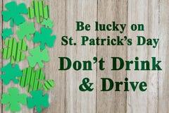 Message de sécurité de jour du ` s de St Patrick Photos stock
