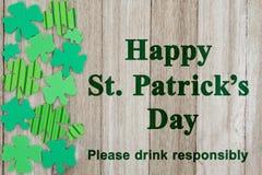 Message de sécurité de jour du ` s de St Patrick Images stock