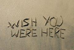 Message de sable Photo libre de droits