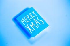 Message de salutations de Joyeux Noël image libre de droits