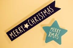 Message de salutations de Joyeux Noël image stock