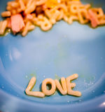 Message de spaghetti Photos stock
