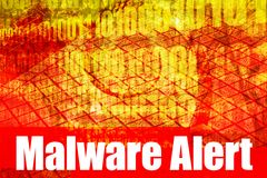 Message de système d'alerte de Malware Photo libre de droits