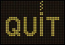 Message de tabagisme stoppé sur un écran de LED Photo libre de droits