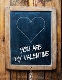 Message de valentines sur une ardoise d'école Photos libres de droits