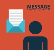 Message design. Illustration eps10 Stock Photo