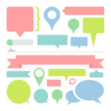 Message dialogue bubbles set great for any use, Vector EPS10. Royalty Free Stock Photography