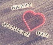 Message du jour de mère Photographie stock