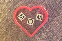 Message du jour de mère Photographie stock libre de droits