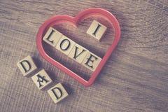 Message du jour de père image libre de droits