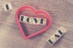Message du jour de père Image stock