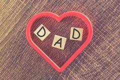 Message du jour de père Photos libres de droits