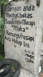 Message du mont Merapi photo libre de droits