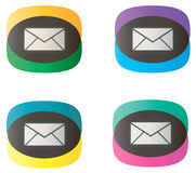 Message dual-color icons Stock Photography