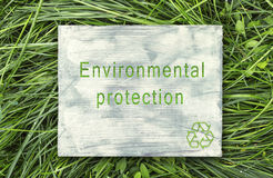 Message about ecological awareness. Stock Photography