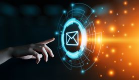 Message Email Mail Communication Online Chat Business Internet Technology Network Concept stock photo