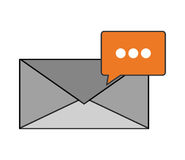 Message envelope and conversation bubble icon Stock Photography