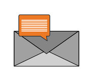 Message envelope and conversation bubble icon Stock Images