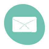Message envelope email communication icon color Stock Photo