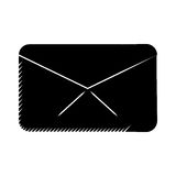 Message envelope email communication pictogram Stock Photo