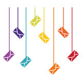 Message envelope mail related icons image. Illustration design Royalty Free Stock Photography