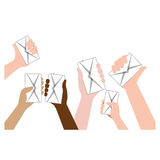 Message envelope mail related icons image Royalty Free Stock Photos