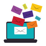Message envelope mail related icons image Stock Image