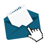 Message envelope mail related icons image Stock Images