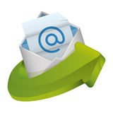 Message envelope mail related icons image Royalty Free Stock Photography