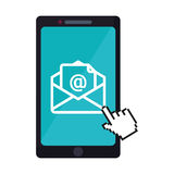 Message envelope mail related icons image Stock Photos