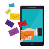Message envelope mail related icons image. Illustration design Stock Photos