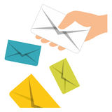 Message envelope mail related icons image Royalty Free Stock Images