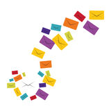 Message envelope mail related icons image. Illustration design Stock Photo