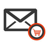 Message envelope mail related icons image Royalty Free Stock Image
