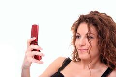 message envoyant la femme des textes Photo libre de droits