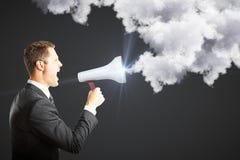 Message et concept de voix Photos stock