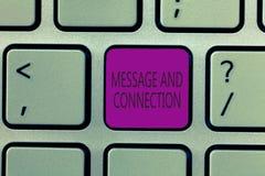 Message et connexion d'écriture des textes d'écriture Le concept signifiant un mot ou une lettre a envoyé à quelqu'un et il a été image libre de droits