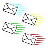 Message exprès de SMS image libre de droits