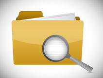 Message folder review illustration design Royalty Free Stock Images