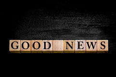 Message GOOD NEWS isolated on black background Royalty Free Stock Image