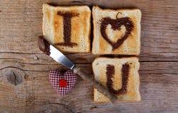 Message grillé d'amour Photos libres de droits