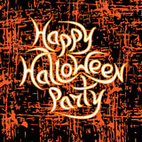 Message Happy Halloween Party on grunge background. royalty free stock photography