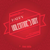 Message heureux de bannière de ruban de jour de valentines Photo stock