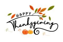 Message heureux de thanksgiving photo stock