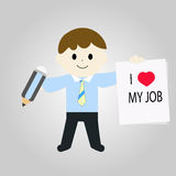 Message of `I love my job` Stock Photos