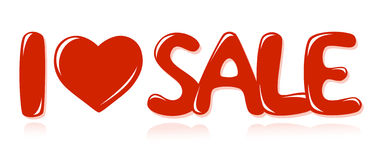 Message I love sale Stock Images