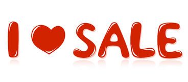 Message I love sale Royalty Free Stock Photo