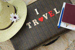 Message: I love travel Royalty Free Stock Image