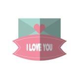 Message i love you blue envelope. Vector illustration eps 10 Royalty Free Stock Photo