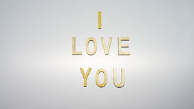 Message i love you letter on backgound Royalty Free Stock Photos